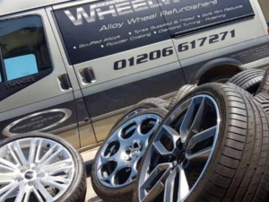 New tyres on display next to Wheelworx van